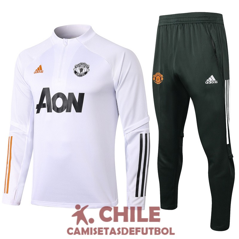 2020-2021 cremallera manchester united blanco chandal