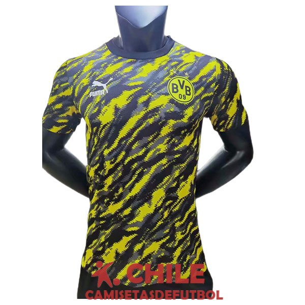 camiseta camuflaje amarillo negro entrenamiento version player 2021-2022 dortmund