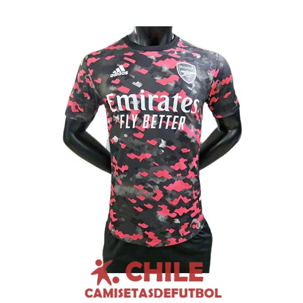camiseta rojo negro blanco entrenamiento version player 2021-2022 arsenal